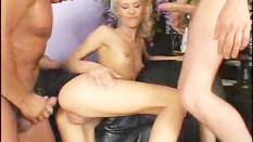 Cora Carina Drenched In A Bukkake Orgy