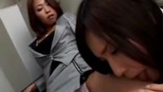 Asian Lesbian Blackmails Girl Into Licking Her Shoes, Legs and Feet