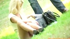 Upskirt Pussy In Park