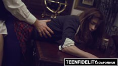 TEENFIDELITY – Schoolgirl Cutie Alaina Dawson Creampied On The Desk