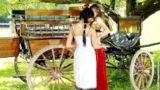 Ashley and Juliette Wagon Wanton