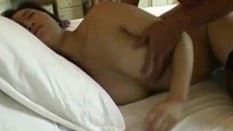 Beautiful asian babe teases and fuck