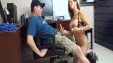 Mom catches Step Son jacking off and helps out
