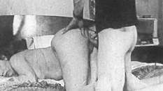 Authentic Vintage Porn 1950s – Shaved Pussy, Voyeur Fuck