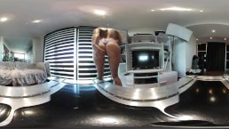 Hot Tattooed Brunette Undress & Squirt Everywhere in Vr 360 by Vic Alouqua