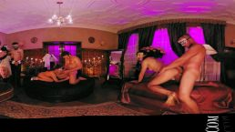 VR 360 Colombian swinguer party big orgy