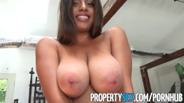 PropertySex – Potential client impressed by big natural tits